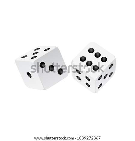 dice vector design isolated on