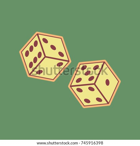 dices sign vector cordovan