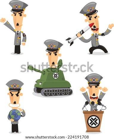 dictator cartoon illustrations
