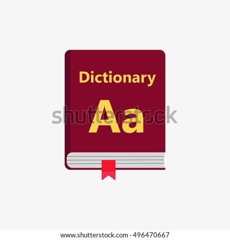 Dictionary book Icon. Flat vector illustration.