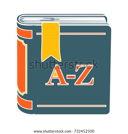 dictionary flat icon