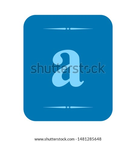 dictionary icon. flat illustration of dictionary vector icon. dictionary sign symbol