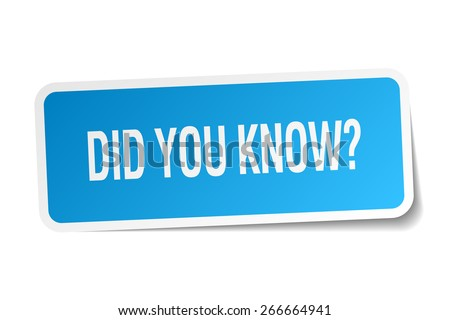did you know blue square