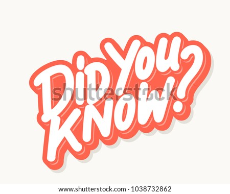 Did you know? Vector lettering.