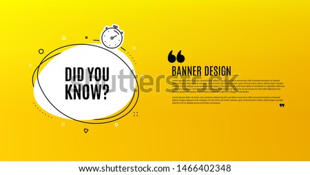 did you know yellow banner