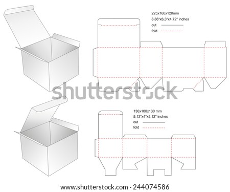 Cd box template download free vector art stock graphics images die paper boxes templates with stamp maxwellsz