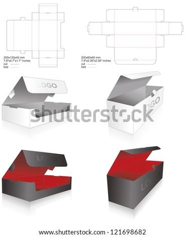 die set of luxury boxes
