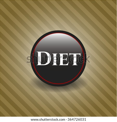 Diet black emblem or badge