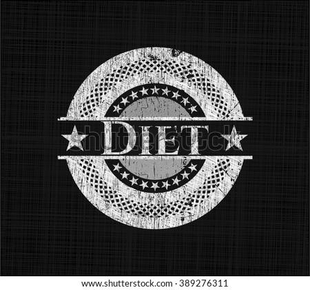 Diet chalkboard emblem