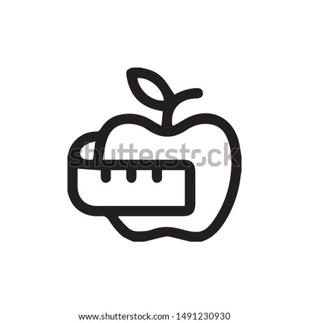 Diet icon vector. Diet symbol. Linear style sign for mobile concept and web design. health symbol illustration. Pixel vector graphics - Vector.