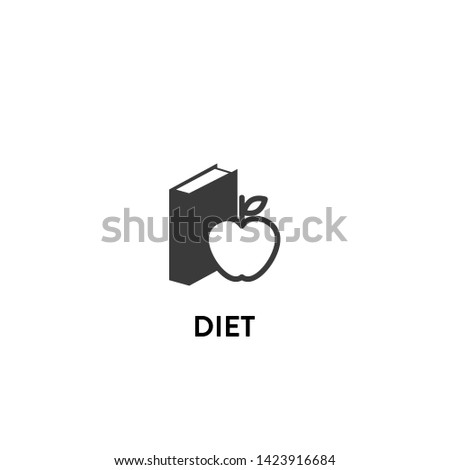 diet icon vector. diet vector graphic illustration