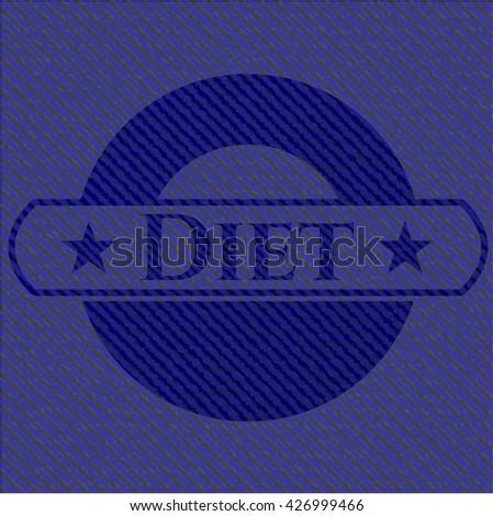 Diet jean or denim emblem or badge background