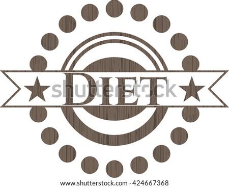 Diet retro wood emblem