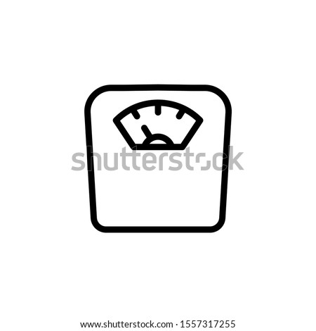 diet scale icon in line art style, From Fitness, Health and activity icons, sports icons Foto stock ©