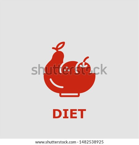 Diet symbol. Outline diet icon. Diet vector illustration for graphic art.