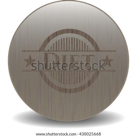 Diet vintage wooden emblem