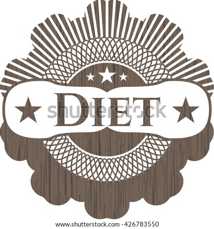 Diet wood emblem. Retro