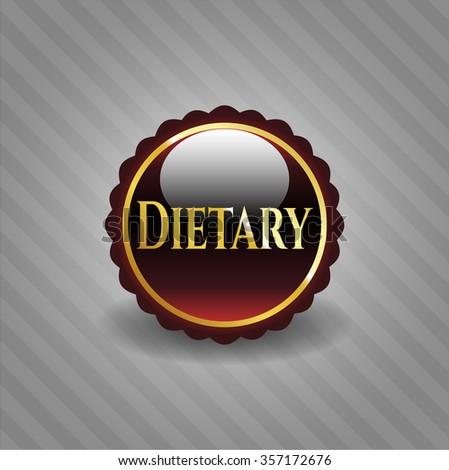 Dietary gold shiny badge