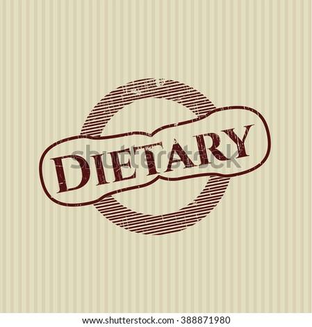 Dietary grunge stamp