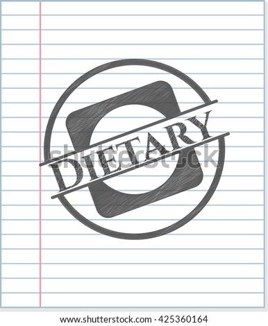 Dietary pencil emblem