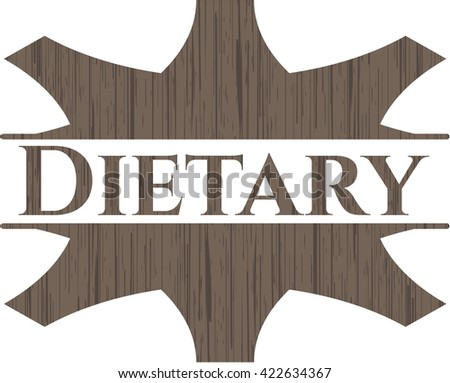 Dietary retro style wood emblem