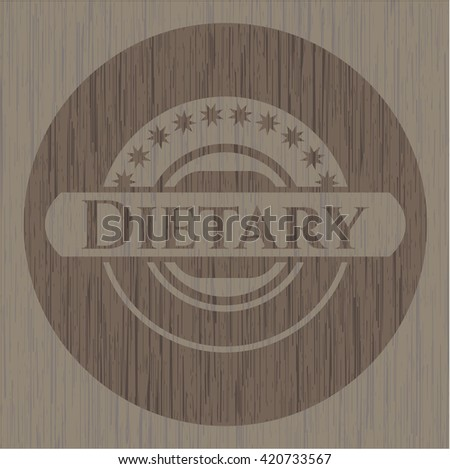 Dietary retro style wooden emblem