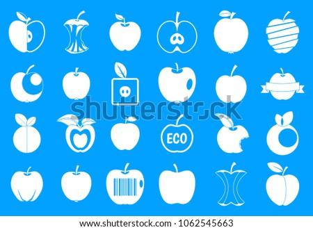 different apple icon set