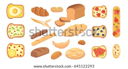 different breads and bakery