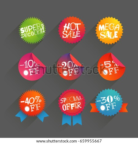 Different circle shopping tags