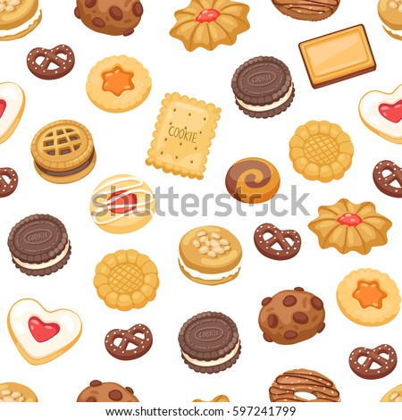 different cookie cake isolated