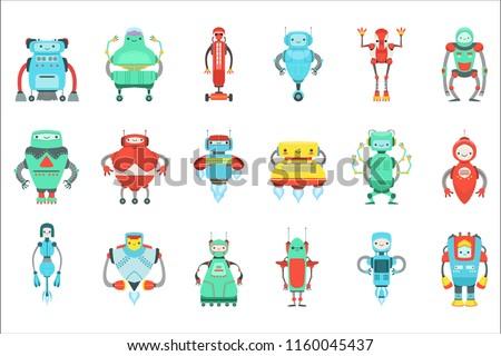 different cute fantastic robots