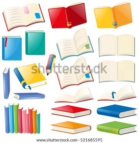 stock-vector-different-design-of-book-and-notebooks-illustration