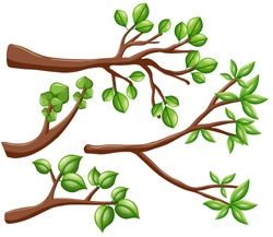 Different design of branches illustration
