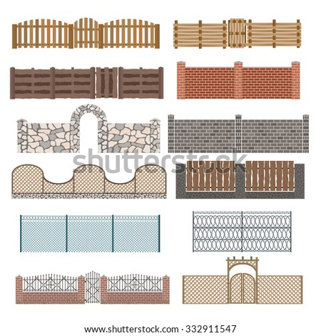 different designs of fences and