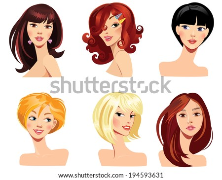 different faces of women with