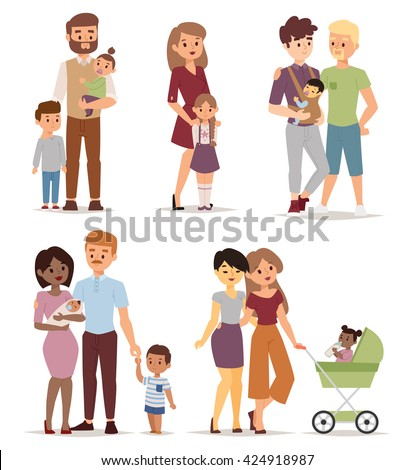 different gay family vector