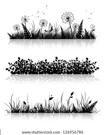 different grass banner