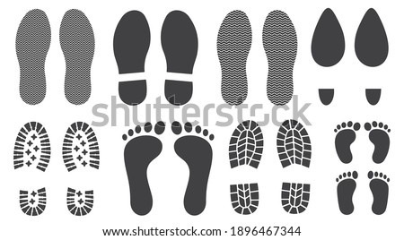 different human footprints icon