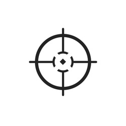 Different icon set of targets and destination. Target and aim, targeting and aiming. Vector illustration for web design