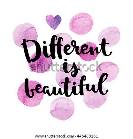 different is beautiful card