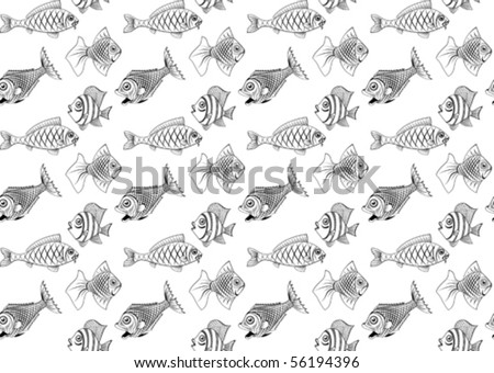 different kinds of fish seamless you can repaint any color kinds of fish 450x340