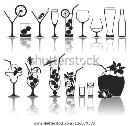 different kinds of glasses with