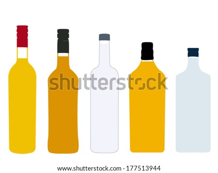 different kinds of spirits full