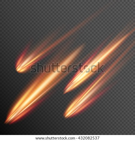 different meteors  comets and