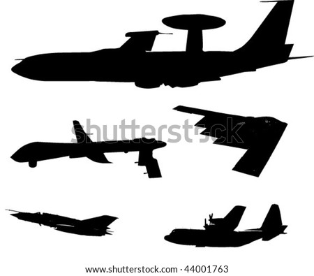 different military planes