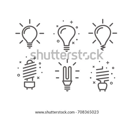 different modern lightbulb...