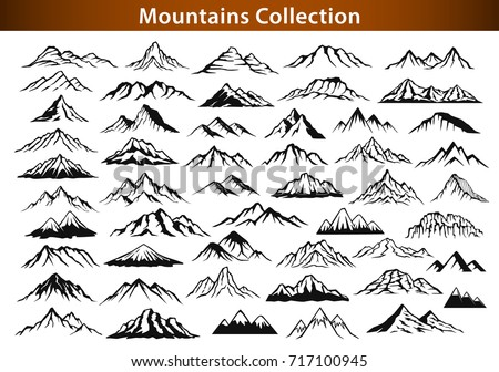 different mountain ranges...
