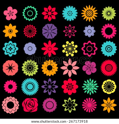 Different patterns of flower shape designs #267173918