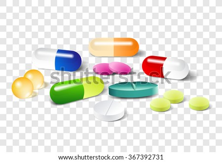 different pills on a