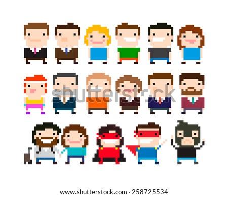 8-Bit Gaming Characters - Download Free Vectors, Clipart